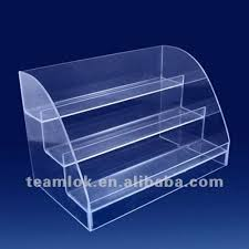 Acrylic 3 Tier Accessory Cosmetic Purse Display Stand View