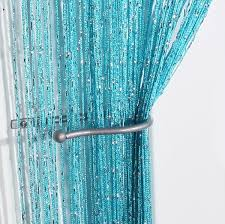 Blue Crushed Voile Curtains by Voile Panels Jazz Glitter String Curtain Panel Blue