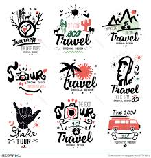 Travel Logo Tour Tourist Handmade Exotic Summer Holiday Sign Icon