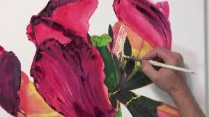blütenzauber leuchtende blumenporträts in acryl malen