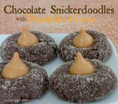 Pumpkin Spice Hershey Kisses Cookies by Caramel Potatoes Chocolate Snickerdoodles With Pumpkin Kisses