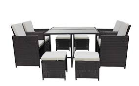 Amazon.com: Sofamania Modern 8 Piece Space Saving Outdoor Furniture ... Space Saving Kitchen Table And Chairs House Design Ipirations Saver Marvellous Classic Ikea Folding Ding Tables Surripuinet Spacesaving 4 Seater Ding Table Set In Blairgowrie Perth And Interior Sets With Next Day Delivery Room Set Value Compact 2 Seater Ideas 42 Inch Round Langford For 7500 Sale Of 3 Rustic Rectangular Benches 5 Pcs Wood W Storage Ottoman Stools Courtyard Costway Piece Dinette