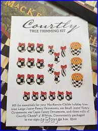 Mackenzie Childs Courtly Check Christmas Tree Ornament Ribbon Trimming Kit New
