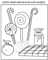 Candy Coloring Pages Printable Corn Sheet Halloween Cane