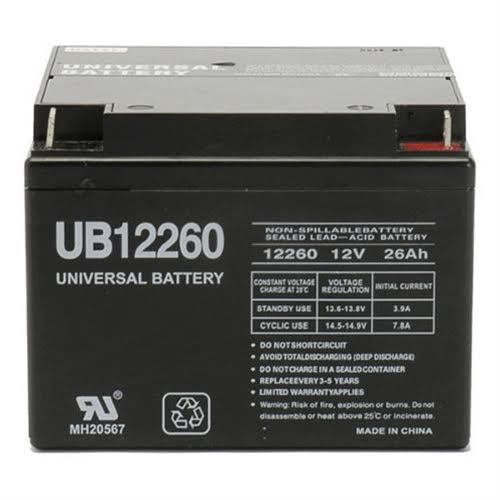 UPG UB6120 SLA P2 Pressure Contact Terminal Battery - 6V
