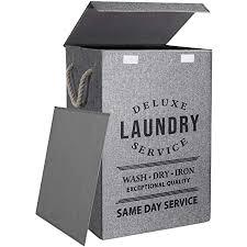wäschekörbe mit deckel 85l große wäschekörbe für die aufbewahrung im schlafzimmer badezimmer eingebaute pe platte faltbarer und tragbarer wäschekorb