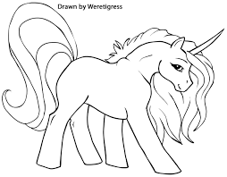 Printable Unicorn Coloring Pages My Little Pony On Free