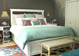 farmhouse king size bed with storage hometalk