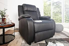 moderner relaxsessel kunstleder schwarz verstellbar sessel fernsehsessel mit liegefunktion