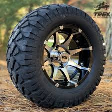 100 All Terrain Tires For Trucks 12 BANSHEE Machined Black Golf Cart Wheels And 22 STINGER