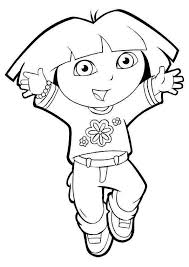 Use Dora The Explorers Printable Coloring Pages To Teach Your Kids Learn About Color Of Pencils Will Also Be An Advantage Make