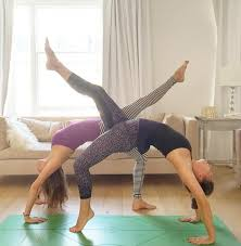 Ella Woodward Struck An Impressive Yoga Pose Pictured Front With A Friend Yestrday