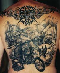 Harley Davidson Tattoos Are A Way Of Paying Tribute To The Bike At