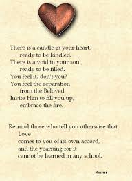 There Is A Candle In Your Heart Rumi