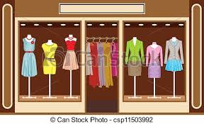 Womens Clothing Shop Vector
