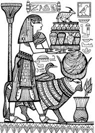 Click To See Printable Version Of Priest And Sacred Animals Ancient Egypt Coloring Page