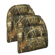 Realtree Camo Bathroom Set by Gripper Realtree Camouflage Tufted Chair Cushion Set Of 2 414319