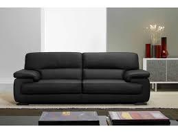 canapé cuir noir 3 places canapé fixe 3 places balsamo coloris noir prix promo canapé cuir