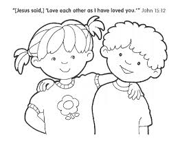 Capricious Christian Kids Coloring Pages Free Printable