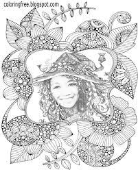 Flower Printable Mystical World Drawing Ideas Beautiful Girl Secret Garden Coloring Pages For Adults