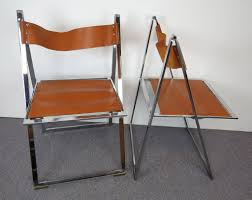 1960s Italian Chrome & Leather Folding Chairs By Elios Qyyczdy Folding Ding Chair Wooden Faux Leather Backrest Stool 1960s Italian Chrome Chairs By Elios Lane Bonded Set Of 2 Christopher Knight Home Tanner Goods Nokori Man Many Pair Fauxbamboo Campaign With Handstitched Achica Teak Chair Tripolina Cowhide Transfer Chair Lassen Saxe Oak Wood Natural Leather Chairs Oslo Folding Boconcept Palermo Tripolina