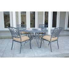 Hanover Traditions 5-Piece Dining Set In Tan With 4 Chairs And A 48 ... Kitsch Round Glass Table Set Of 4 Chairs Dfs Ireland Mcombo Mcombo Ding Side 4ding Clear Ingatorp And Chairs White Ikea Cally Modern Table With La Sierra Fniture Grindleburg 60 Woodstock Carisbrooke Barker Stonehouse Dayton 48 Upholstered Shop Hlpf5cap 5 Pc Small Kitchen Setding Hanover Traditions 5piece In Tan A Jofran Simplicity Chair Slat Back Pier 1 W Aptdeco Rovicon Lulworth Pedestal