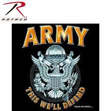 rothco black army emblem t shirt