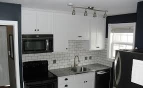 kitchen striking narrow space kitchen with black and white