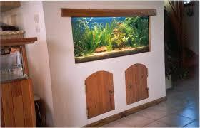aquarium dans le mur le bac aquarium