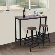 1 Piece Pub Bar Table Bar Kitchen Dining Furniture Counter Height Table  Brown US
