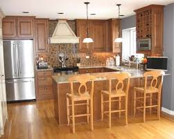 U Shaped Kitchen With Island Bench Wooden Dining Chairs Industrial Pendant Lamp Galley Dimensions Dark