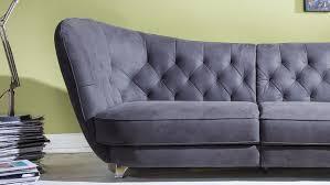 megasofa retro vintage look sofa 3 sitzer microfaser anthrazit