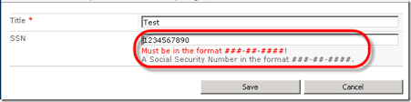 valid phone number how to validate strict text formats in sharepoint 2010
