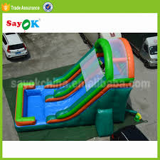 Used Banzai 30ft Inflatable Toboggan Backyard Water Park Slide And ... Water Park Inflatable Games Backyard Slides Toys Outdoor Play Yard Backyard Shark Inflatable Water Slide Swimming Pool Backyards Trendy Slide Pool Kids Fun Splash Bounce Banzai Lazy River Adventure Waterslide Giant Slip N Party Speed Blast Picture On Marvellous Rainforest Rapids House With By Zone Adult Suppliers