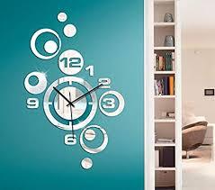 wandtattoo günstig wanduhr mit uhrwerk i wohnzimmer wandtattoo schlafzimmer küche flur diele esszimmer wandaufkleber wandsticker spiegel aufkleber