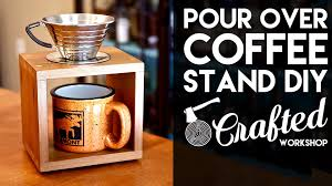 Redwood Pour Over Coffee Stand DIY