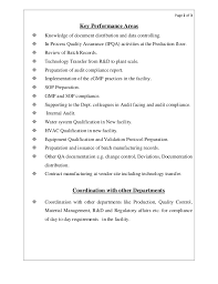 Sample Quality Assurance Resumes