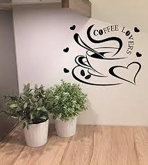 wandtattoo küche esszimmer kaffee liebe