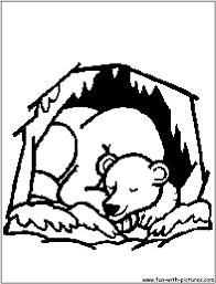 Bears Hibernating Clipart Images