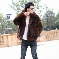 fluffy hairy men winter warm coats large faux fox fur coat men u0027s