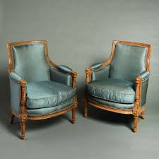 A Pair Of Louis XVI Style Bergere Armchairs (c. 1880 France) From ... French Antique Louis Xvi Style Painted Bgere Chair On The Highboy Armchair Huff Harrington Mint Green Inoutdoor Chairish Georges Jacob Fauteuil From Xvis Salon Des Fine Pair Carved Gilt Upholstered Xv Hand Fauteuil Or Sold Ruby Lane Of Cream Lacquered Wood Bgere Armchairs Style Chair Tiffany Lamps Bronze Statues Baroque Black Roco Fniture And 16 Giltwood Side Chairs Interiors Fauteuils A La Reine Armchairs Modern