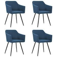 esszimmerstühle 4 stk blau stoff