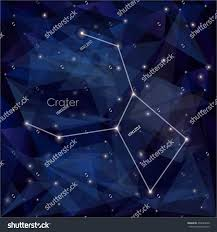 Crater Constellation In Night Sky Background S A Triangulation