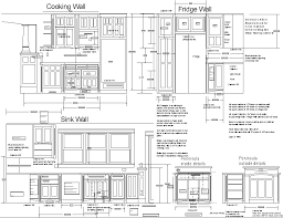 Free Design Kitchen Cabinet Plans Drawings Cutting List Sketch Cooking Wall Fridge Sink Mounted Decorations