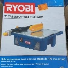 Home Depot Ryobi Wet Tile Saw by Find More Ryobi 3 4 Hp 7 In Wet Tile Saw Used Once Works