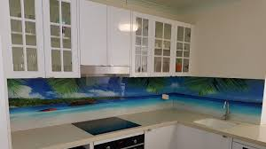Ocean View Digital Printed Glass Splashback By Graphic Services