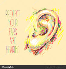 International Ear Care Day Sketch Health Vector Illustration Medical Poster Design