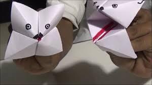 Simple Paper Folding Talking Toy
