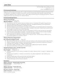 Resume Templates Medical Records Technician