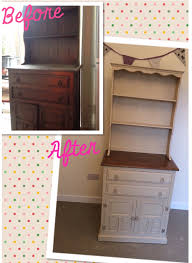 before and after welsh dresser using chalk paint home stuff
